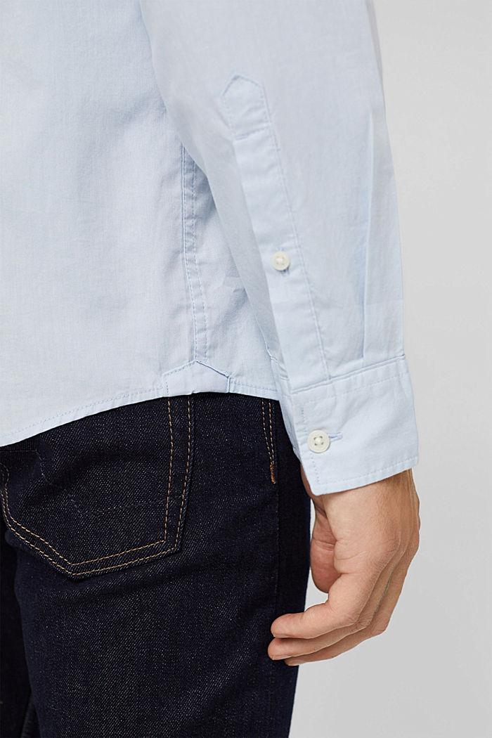 Button-Down-Hemd aus 100% Baumwolle, LIGHT BLUE, detail image number 5