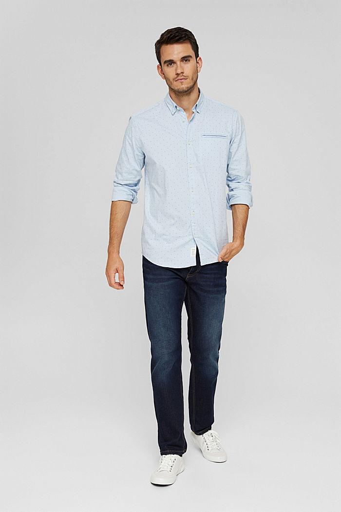 Vzorovaná košile, 100% bavlna, LIGHT BLUE, detail image number 1