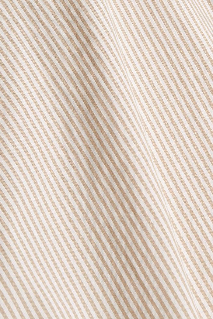 Gestreept overhemd van 100% katoen, BEIGE, detail image number 4