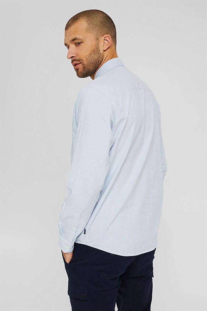 Gestreiftes Hemd aus 100% Baumwolle, LIGHT BLUE, detail image number 3