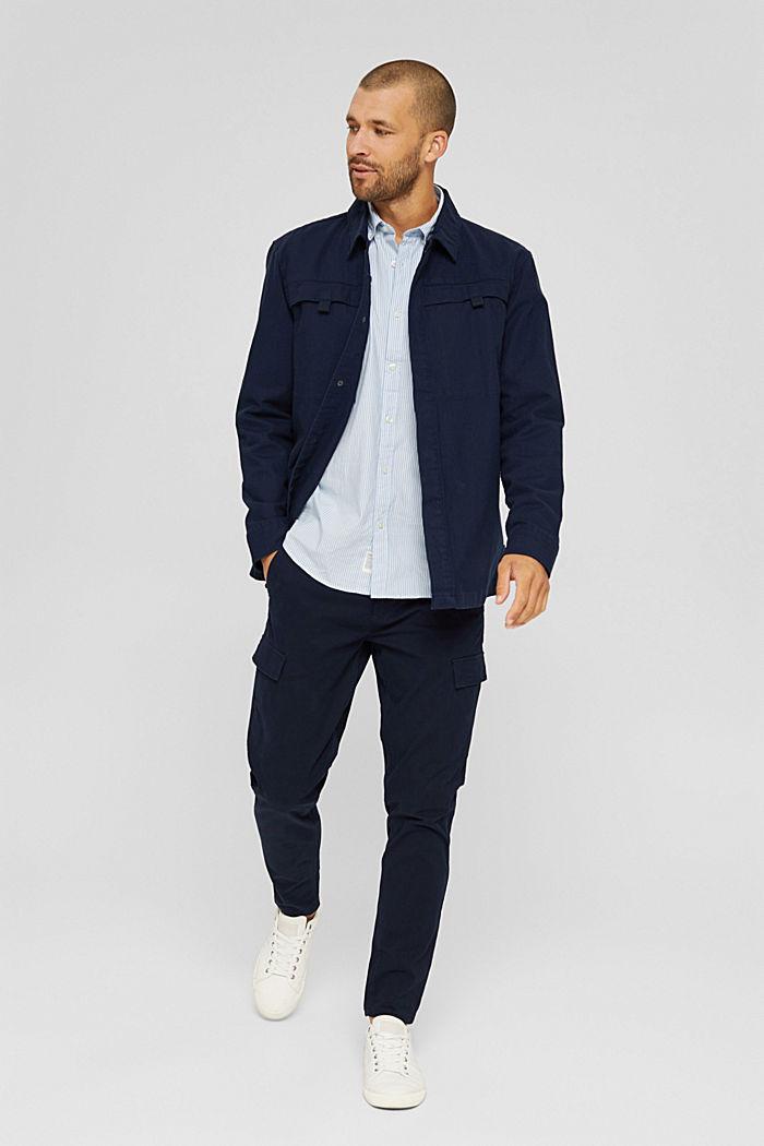 Gestreiftes Hemd aus 100% Baumwolle, LIGHT BLUE, detail image number 1