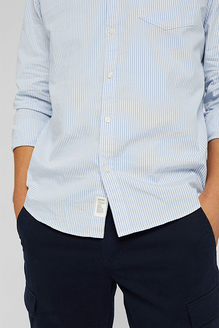Gestreiftes Hemd aus 100% Baumwolle, LIGHT BLUE, detail image number 2