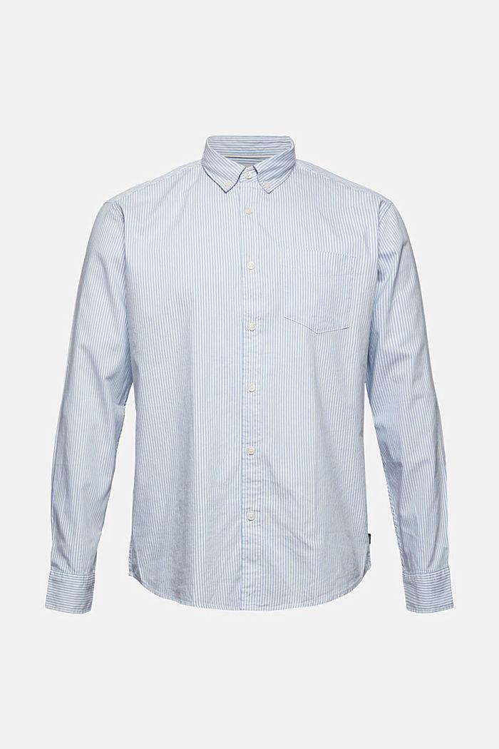 Gestreiftes Hemd aus 100% Baumwolle