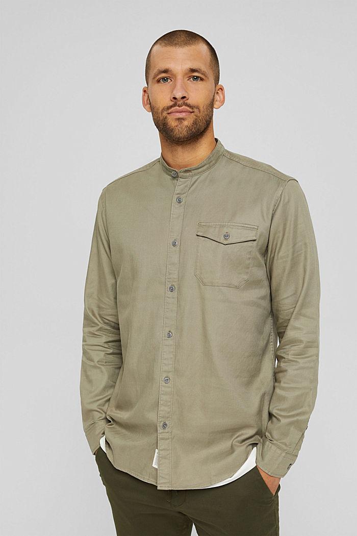 Woven Shirt, PALE KHAKI, detail image number 0