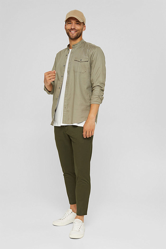 Woven Shirt, PALE KHAKI, detail image number 1