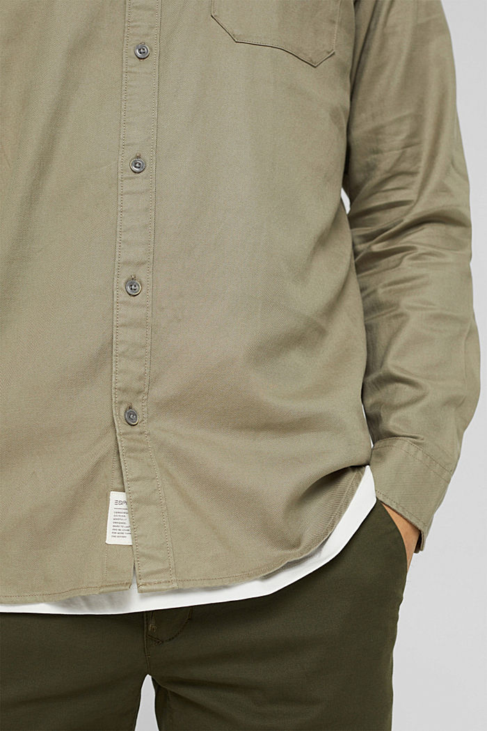 Woven Shirt, PALE KHAKI, detail image number 5