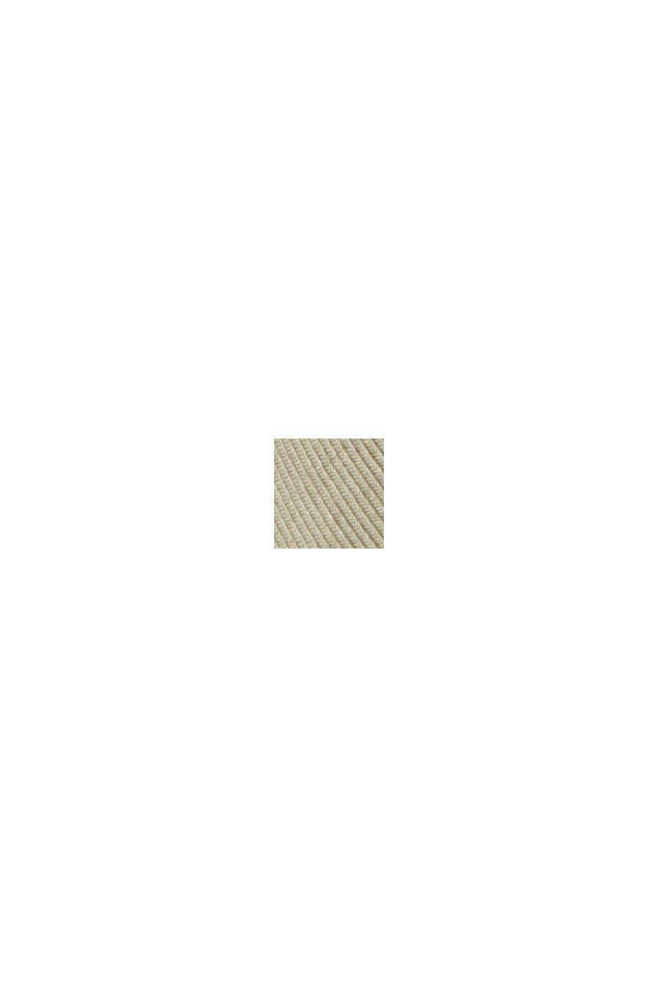 Chemise à col droit en coton bio mélangé, PALE KHAKI, swatch