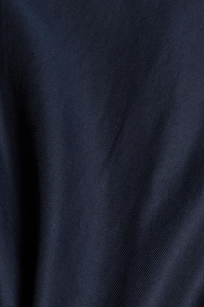 Košile se stojáčkem, ze směsi s bio bavlnou, NAVY, detail image number 4