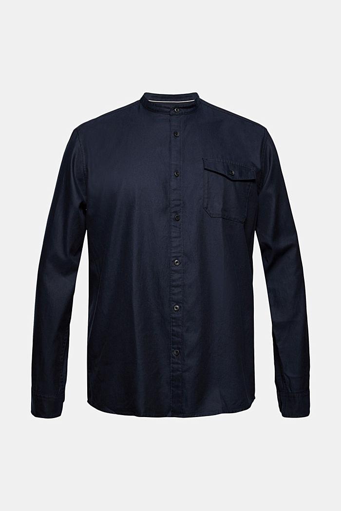 Košile se stojáčkem, ze směsi s bio bavlnou, NAVY, detail image number 7