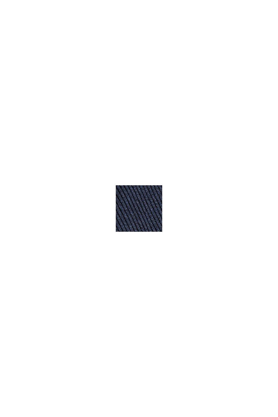 Chemise à col droit en coton bio mélangé, NAVY, swatch