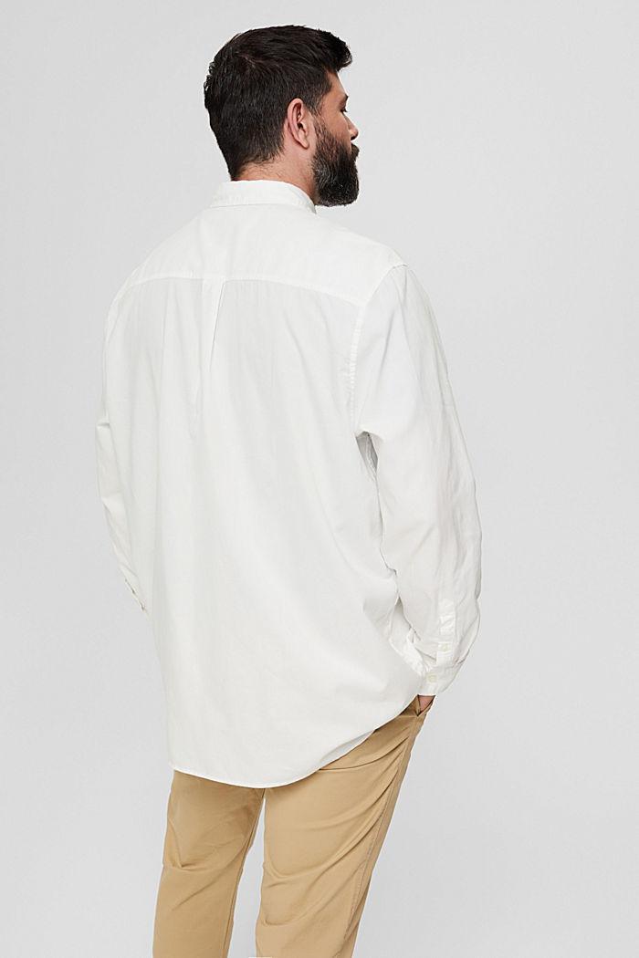 Button-down-Hemd mit Pattentasche, 100% Baumwolle, OFF WHITE, detail image number 3