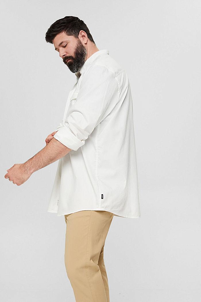 Button-down-Hemd mit Pattentasche, 100% Baumwolle, OFF WHITE, detail image number 5