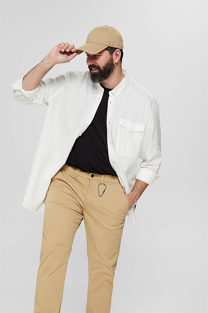 Button-down-Hemd mit Pattentasche, 100% Baumwolle, OFF WHITE, detail image number 6