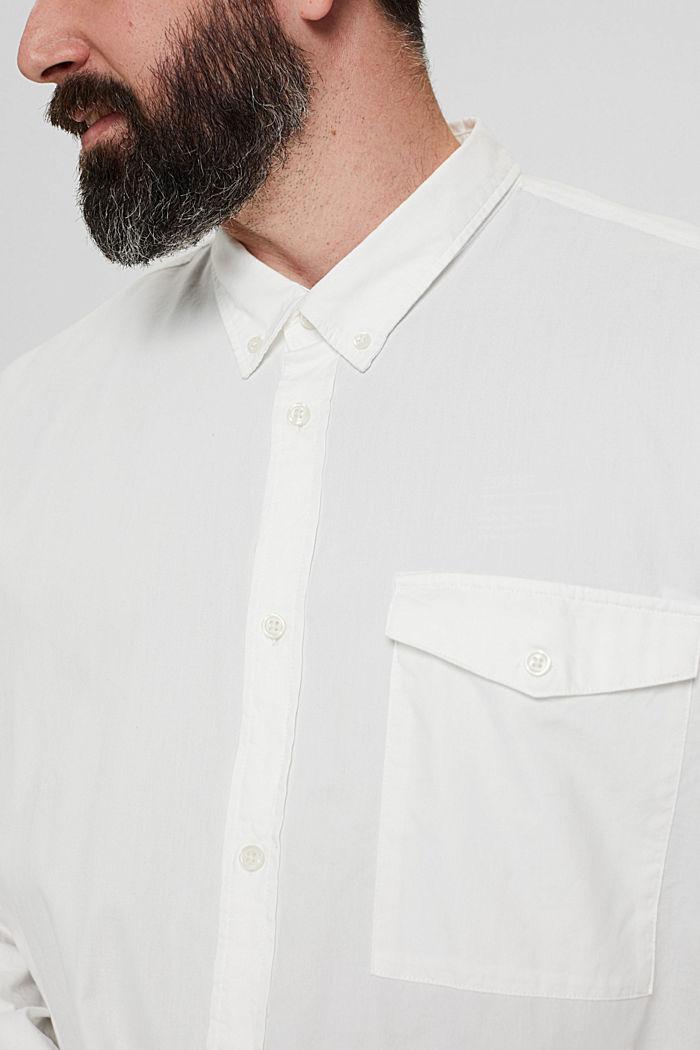 Button-down-Hemd mit Pattentasche, 100% Baumwolle, OFF WHITE, detail image number 2