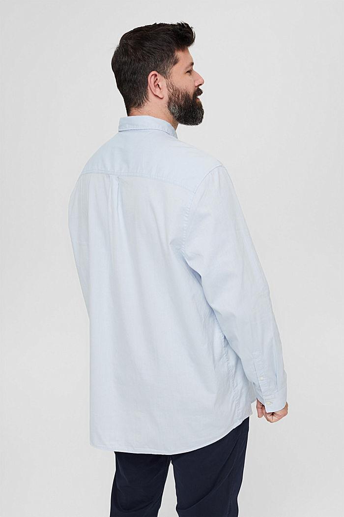 Chemise à col boutonné et poche à rabat, 100% coton, LIGHT BLUE, detail image number 3