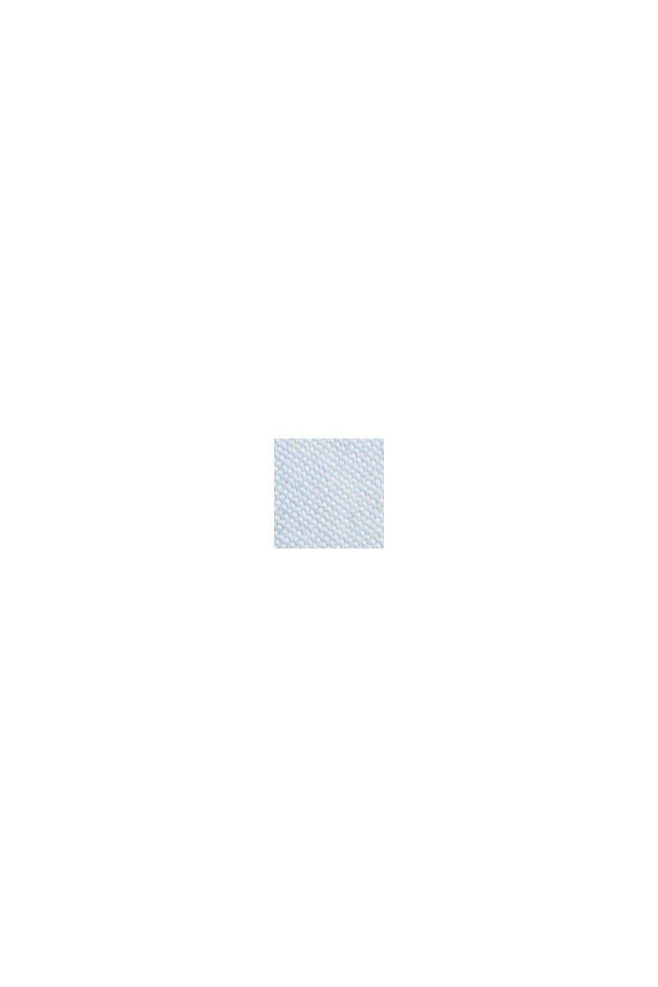 Chemise à col boutonné et poche à rabat, 100% coton, LIGHT BLUE, swatch