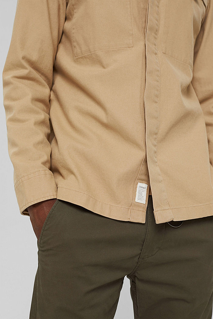 Veste chemise 100% coton, BEIGE, detail image number 2