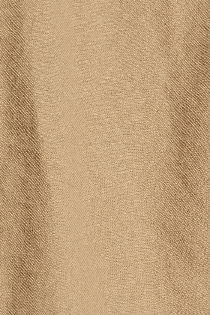 Veste chemise 100% coton, BEIGE, detail image number 4