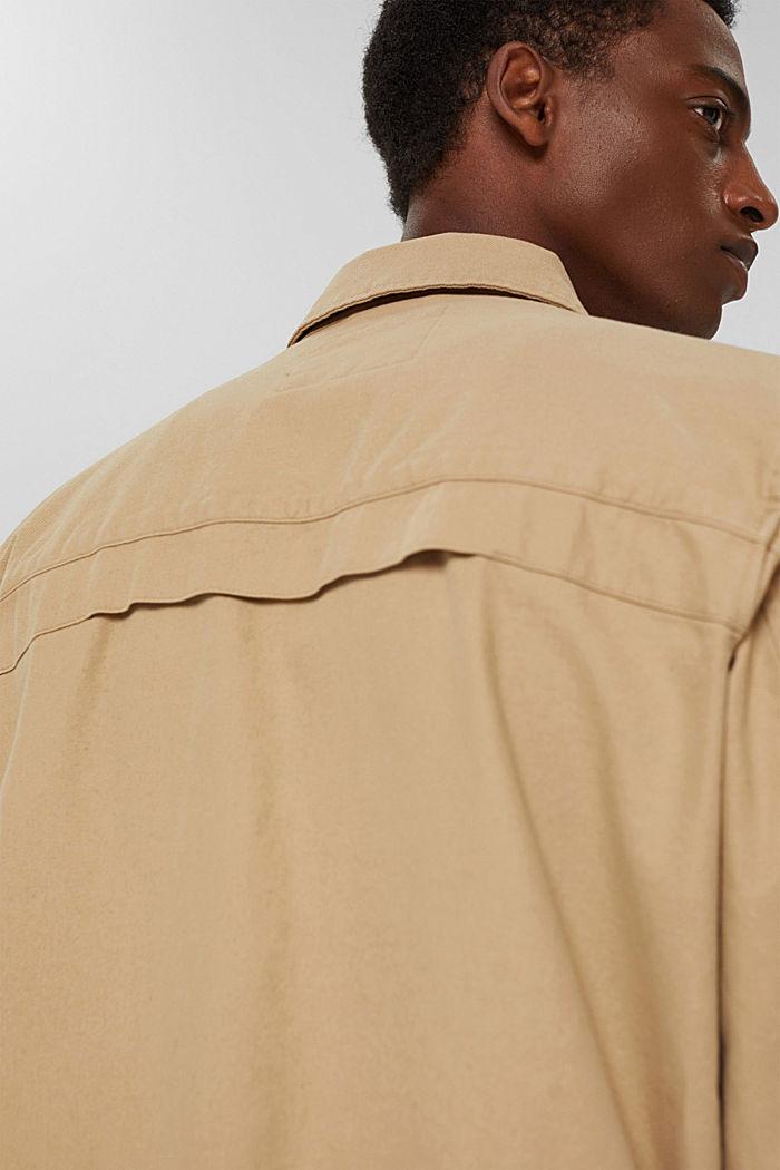 Veste chemise 100% coton, BEIGE, detail image number 5