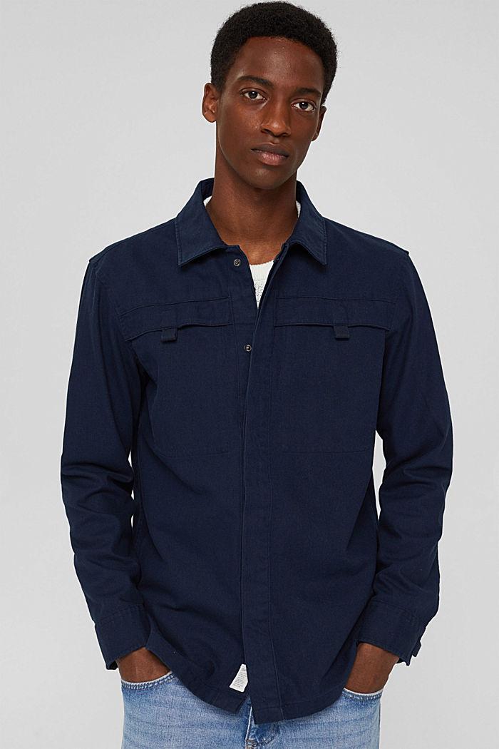 Veste chemise 100% coton, NAVY, detail image number 0