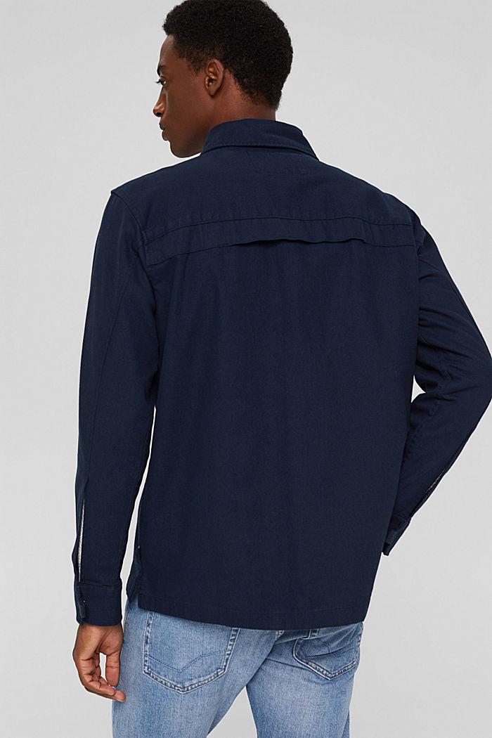 Veste chemise 100% coton, NAVY, detail image number 3