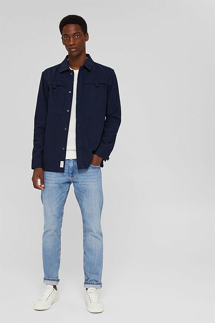 Veste chemise 100% coton, NAVY, detail image number 1