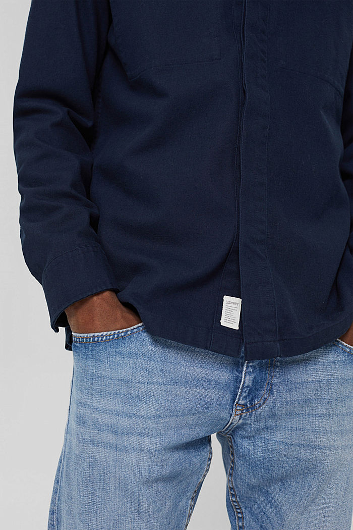 Veste chemise 100% coton, NAVY, detail image number 2