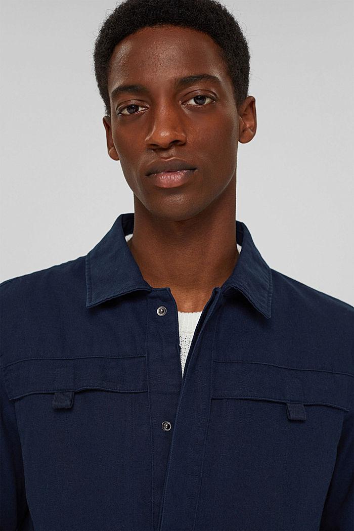 Veste chemise 100% coton, NAVY, detail image number 7