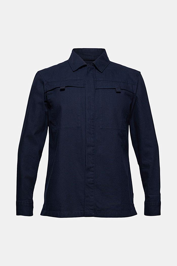 Overshirt aus 100% Baumwolle