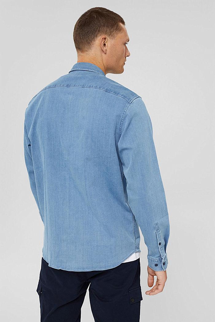 Chemise en jean en coton mélangé, BLUE LIGHT WASHED, detail image number 3