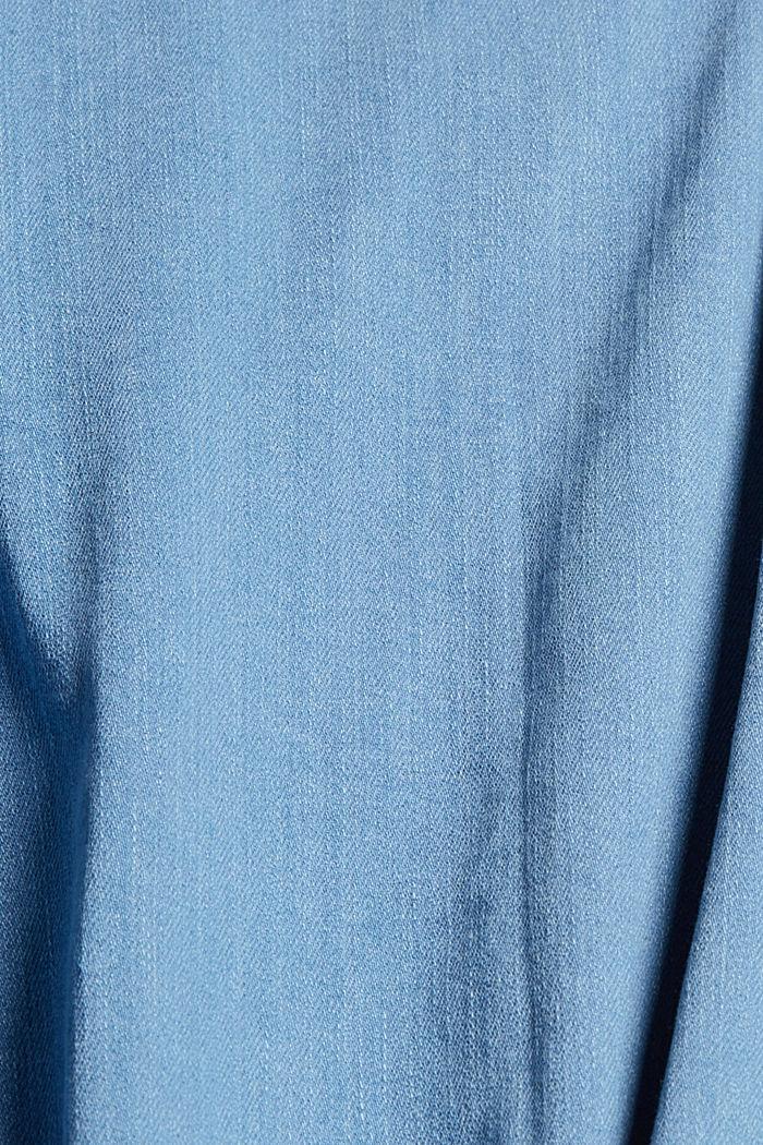 Chemise en jean en coton mélangé, BLUE LIGHT WASHED, detail image number 4