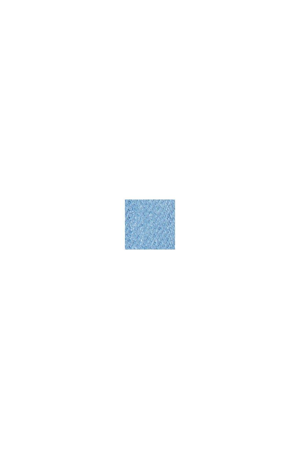 Denim shirt made of blended cotton, BLUE LIGHT WASHED, swatch