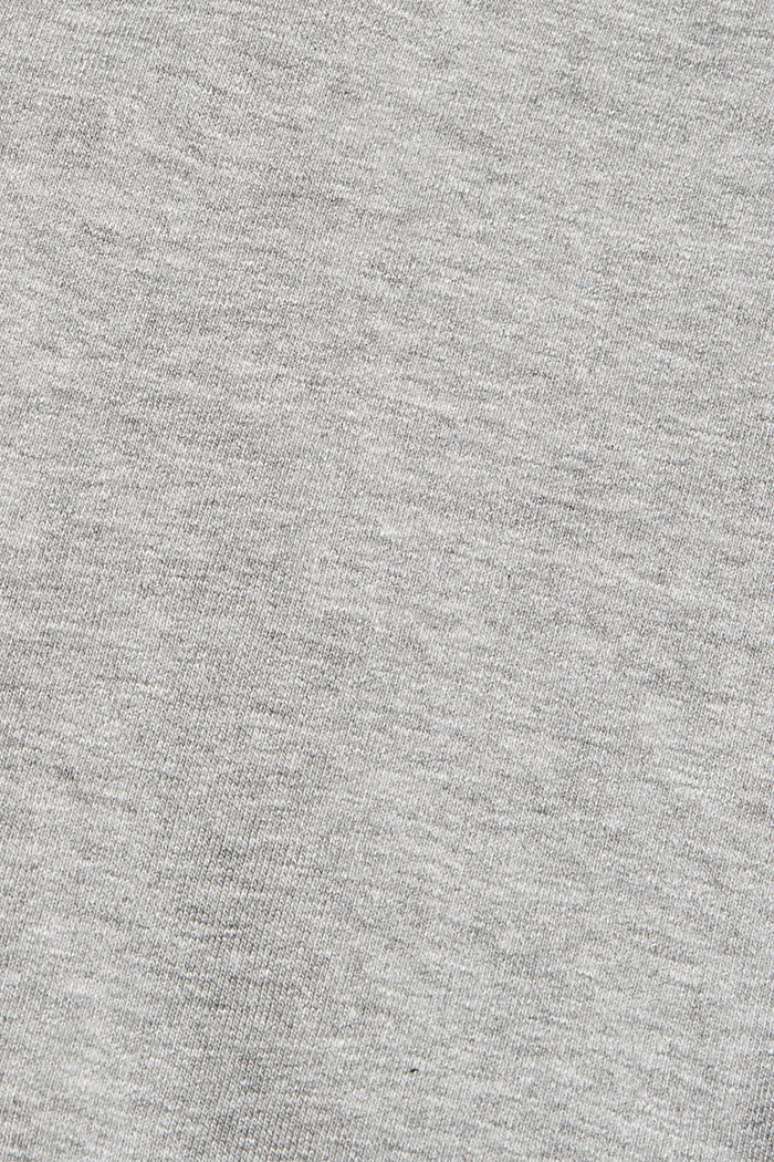 Blended cotton sweatshirt with a zip collar, MEDIUM GREY, detail image number 4