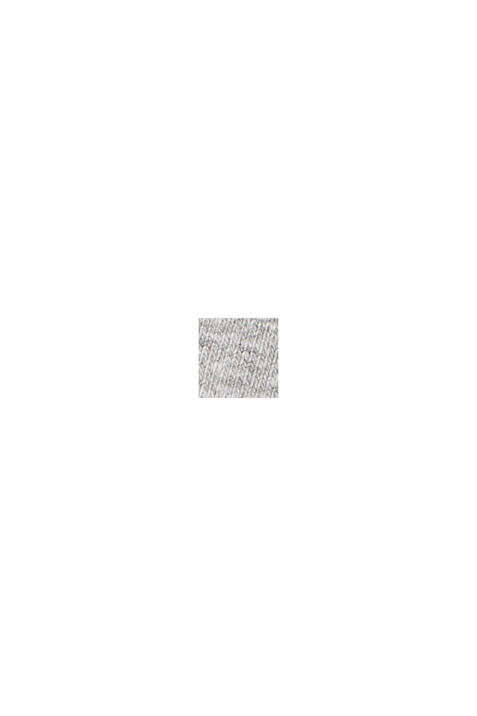 Sweat-shirt à col zippé en coton mélangé, MEDIUM GREY, swatch