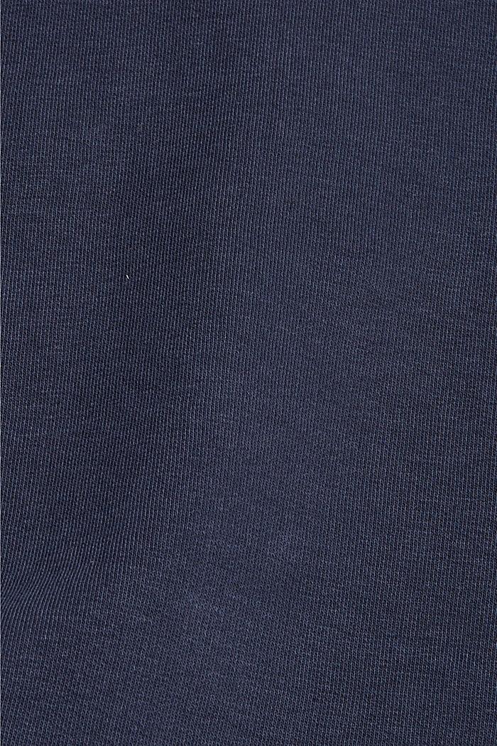 Sweat-shirt à col zippé, coton biologique, NAVY, detail image number 5