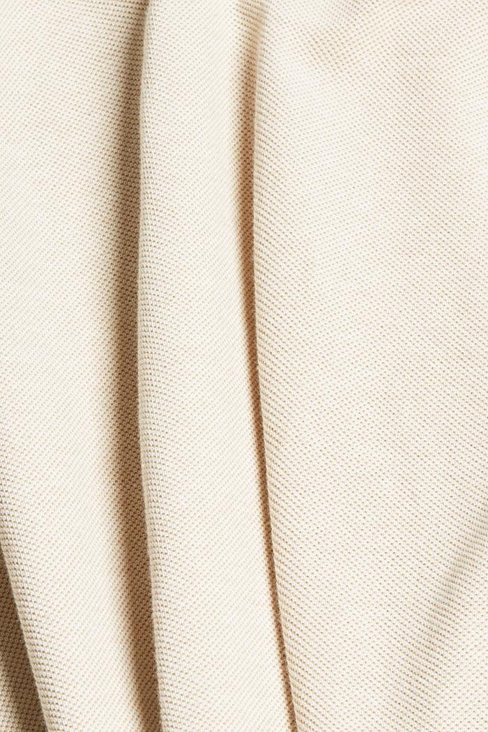 Piqué T-shirt van 100% biologisch katoen, BEIGE, detail image number 5