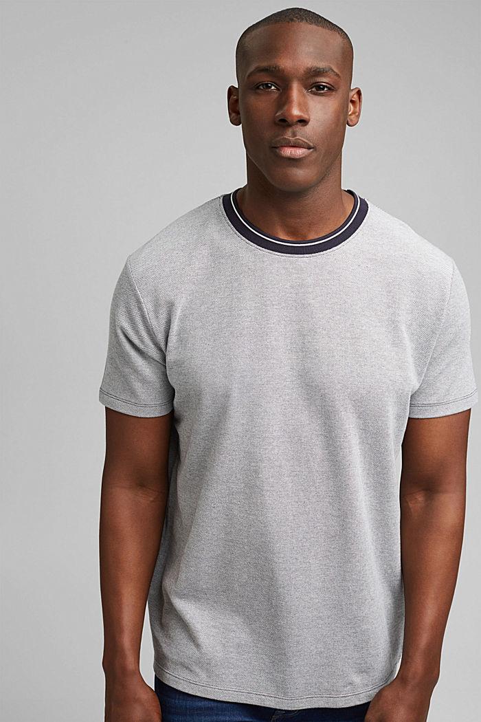 T-shirt en maille piquée, 100% coton bio, NAVY, detail image number 0