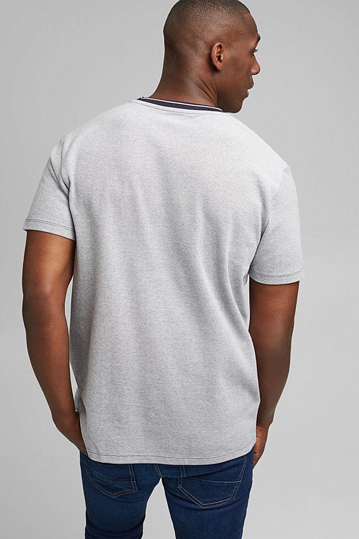 T-shirt en maille piquée, 100% coton bio, NAVY, detail image number 3