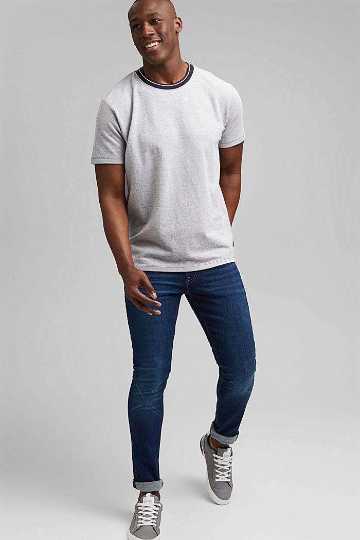 T-shirt en maille piquée, 100% coton bio, NAVY, detail image number 2
