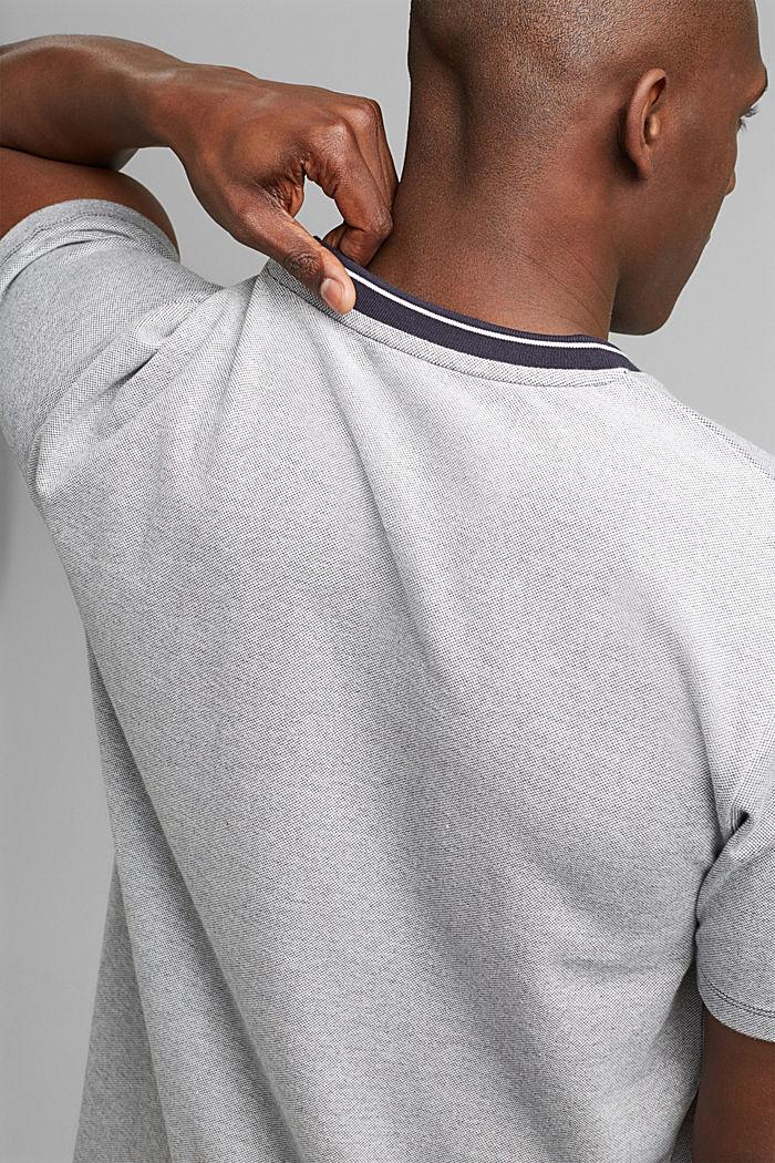 T-shirt en maille piquée, 100% coton bio, NAVY, detail image number 1