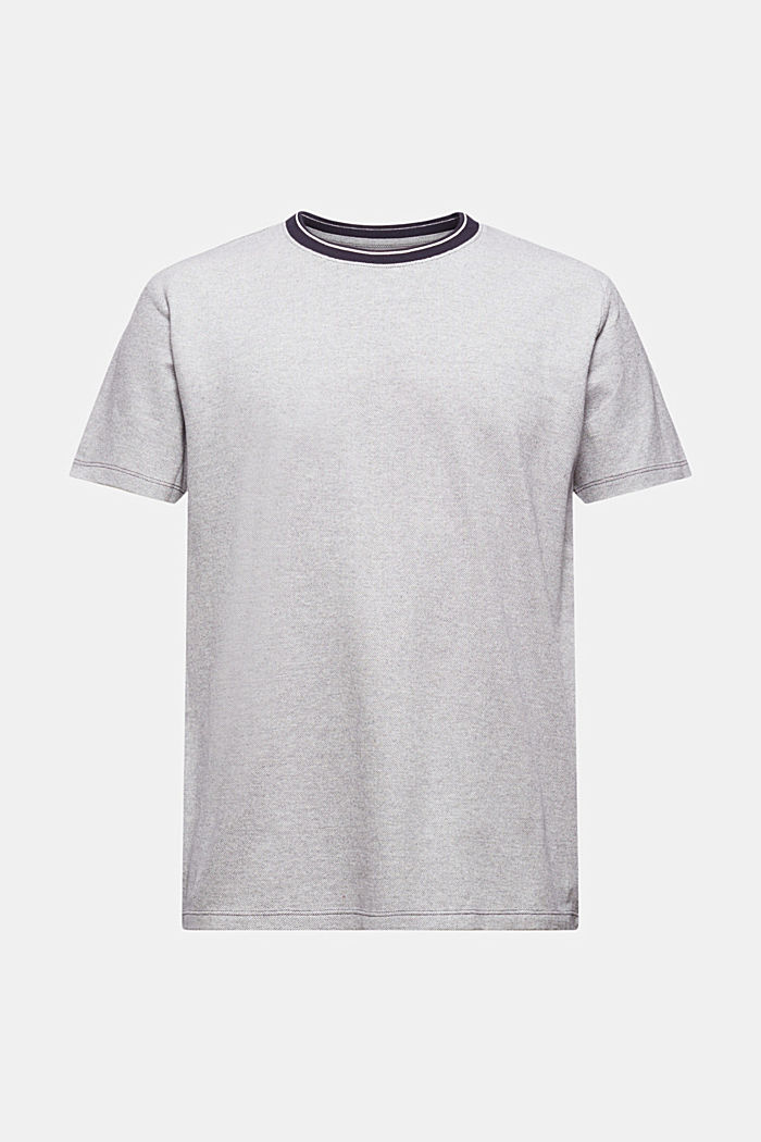 T-shirt en maille piquée, 100% coton bio, NAVY, detail image number 6