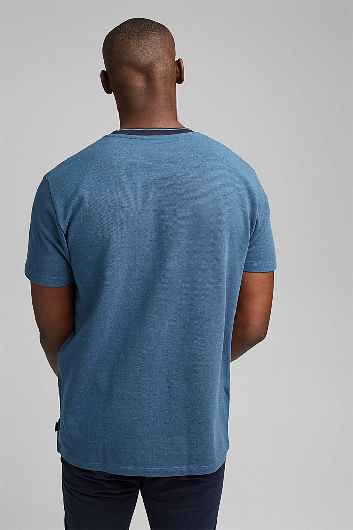 Piqué T-shirt van 100% biologisch katoen, PETROL BLUE, detail image number 3