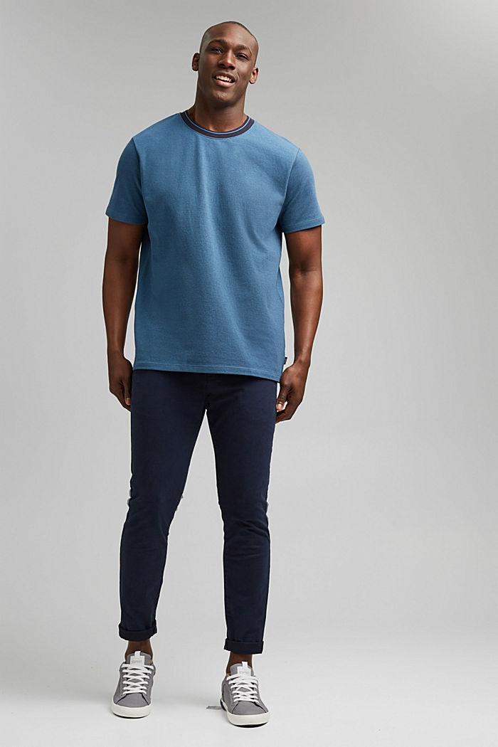 Piqué T-shirt van 100% biologisch katoen, PETROL BLUE, detail image number 2