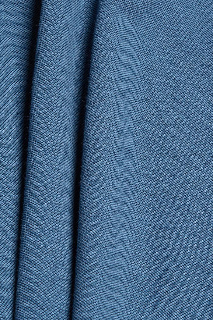 Piqué T-shirt van 100% biologisch katoen, PETROL BLUE, detail image number 4