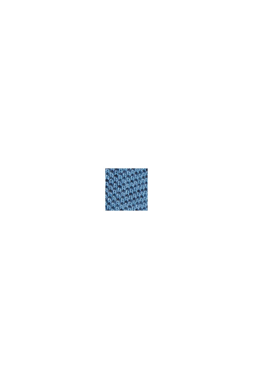 Piqué T-shirt made of 100% organic cotton, PETROL BLUE, swatch