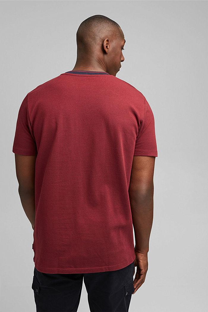 Piqué-T-Shirt aus 100% Bio-Baumwolle, GARNET RED, detail image number 3