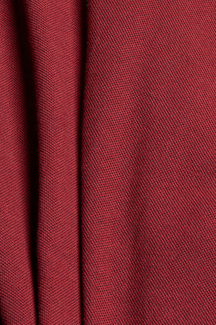 Piqué-T-Shirt aus 100% Bio-Baumwolle, GARNET RED, detail image number 4