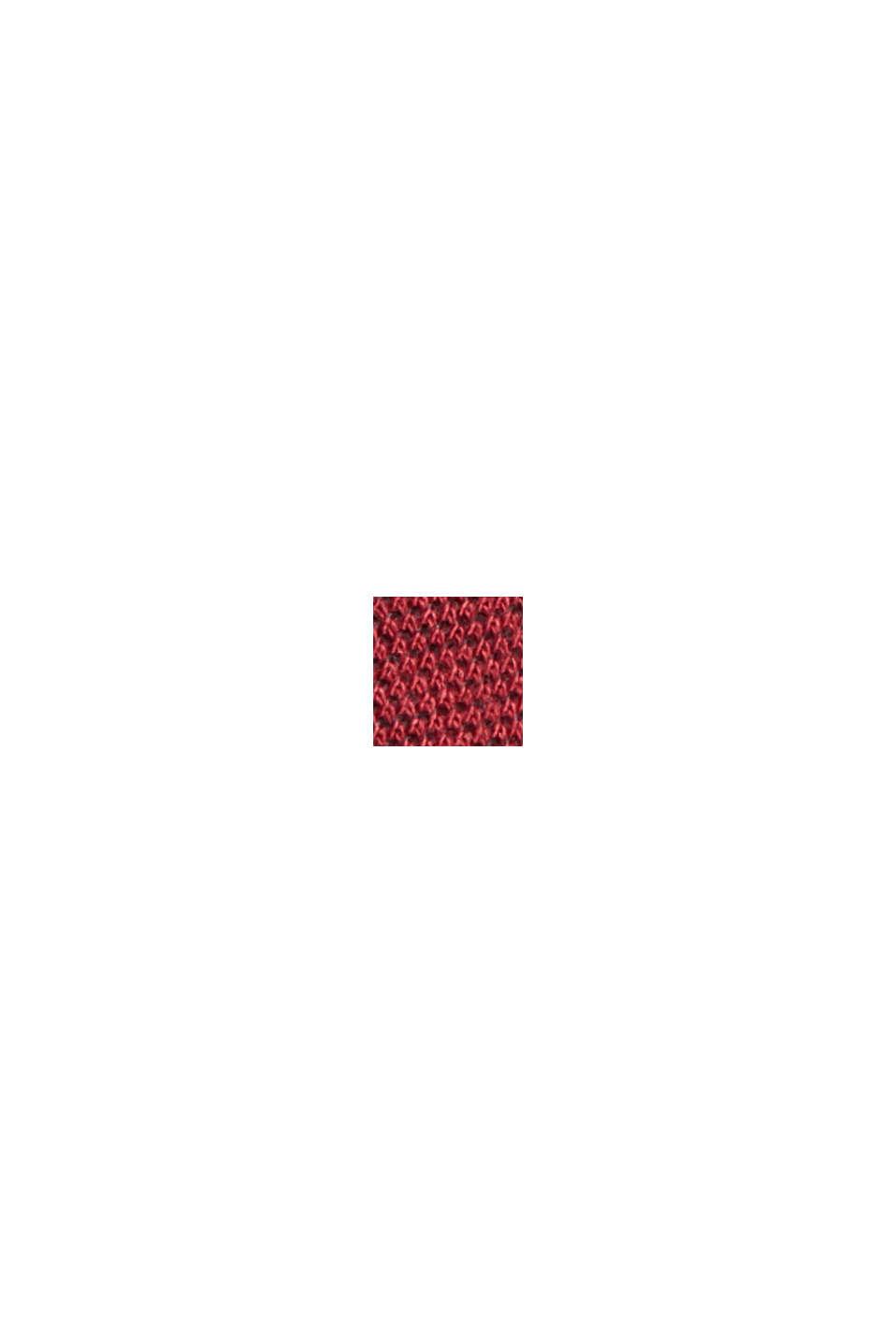 Piqué T-shirt made of 100% organic cotton, GARNET RED, swatch
