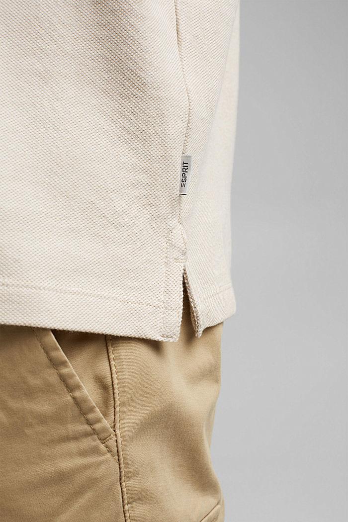 Polo de piqué en 100% algodón ecológico, BEIGE, detail image number 1