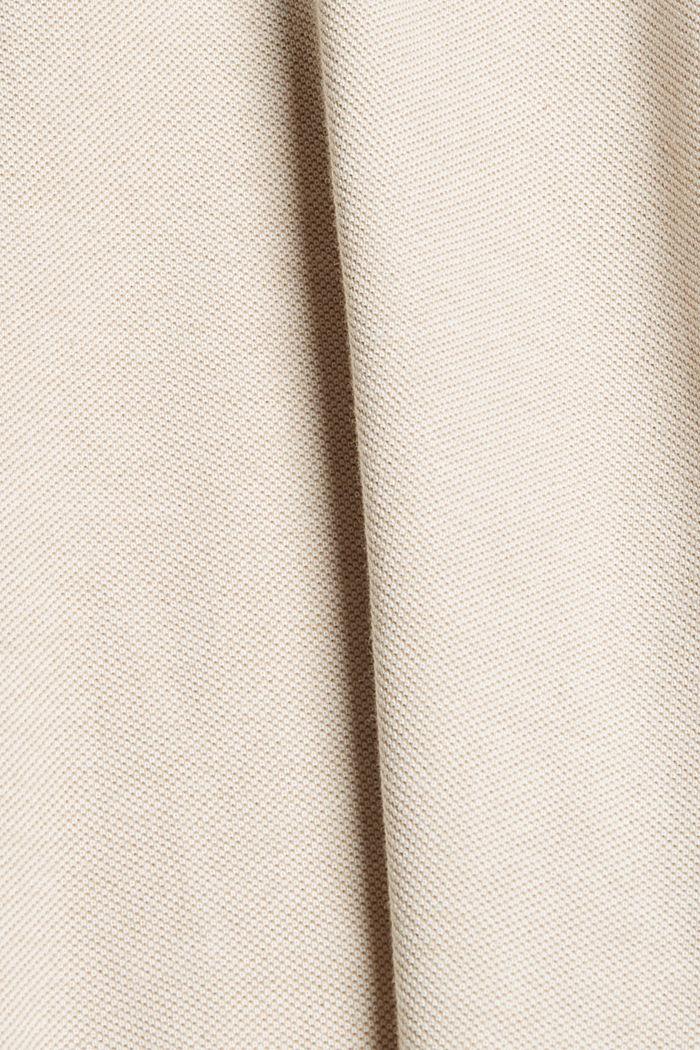 Polo de piqué en 100% algodón ecológico, BEIGE, detail image number 4